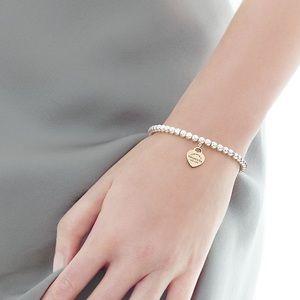 RTT rose gold beaded bracelet